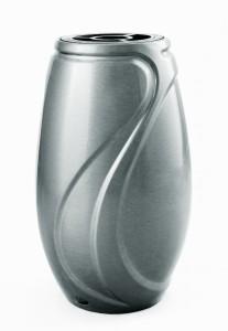Code: V50-4-24P Measures in cm: 24 x 15 (bottom Ø 10) Surface: matt silver