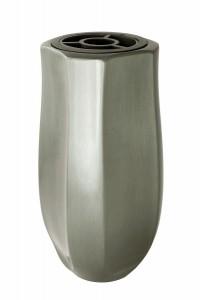 Code: V53-4-26P Measures in cm: 25 x 12 x 12 (bottom: fi 9) Surface: matt silver